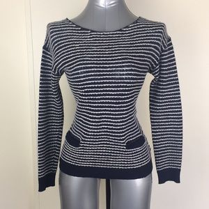 Nautical lambswool stripped knitted long sleeve Sm